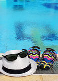 Summer still life by the pool Royalty Free Stock Image