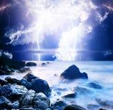 Lightning. Summer storm beginning with lightning Stock Images
