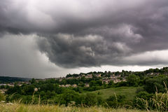 Summer storm clouds over Bath Stock Images