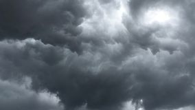 Summer Storm clouds. For the sky gather the storm clouds before the storm stock video footage