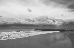 Summer Storm. In Mar del Plata, Argentina Royalty Free Stock Images