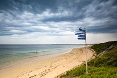 Summer Storm over Point Nepean royalty free stock photo