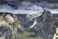Summer storm over Yosemite Valley Stock Photo