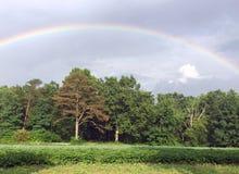 Summer Storm and a Rainbow over the Farm. Stormy day and a rainbow over our Tennessee farm Stock Photos