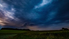 Summer Storm Timelapse UHD - Panning stock footage