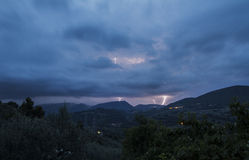 Summer storm in umbria - HDR stock photography