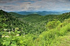 Summer Storms Over Over The Blue Ridge Parkway Royalty Free Stock Photo