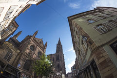 Summer Strasbourg in fish-eye lens Royalty Free Stock Images