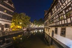 Summer Strasbourg in fish-eye lens Stock Image
