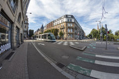 Summer Strasbourg in fish-eye lens Royalty Free Stock Photography