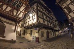 Summer Strasbourg in fish-eye lens Stock Images
