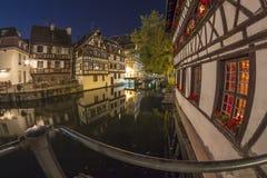 Summer Strasbourg in fish-eye lens Stock Photos