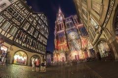 Summer Strasbourg in fish-eye lens Royalty Free Stock Photos
