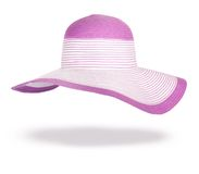 Summer straw hat isolated Stock Image