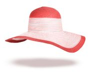 Summer straw hat isolated Royalty Free Stock Photo