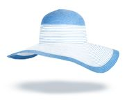 Summer straw hat isolated Royalty Free Stock Image