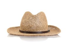 Summer straw hat isolated Royalty Free Stock Images
