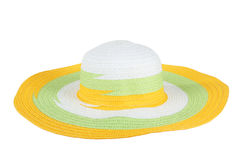 Summer straw hat isolated on white Royalty Free Stock Images