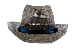 Summer straw hat isolated on white. Background Stock Photography