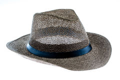 Summer straw hat isolated on white. Background Royalty Free Stock Images