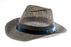 Summer straw hat isolated on white. Background Stock Image