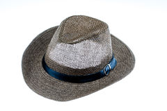 Summer straw hat isolated on white. Background Royalty Free Stock Image