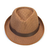 Summer straw hat isolated on white. Background Royalty Free Stock Photo