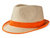 Summer straw hat Royalty Free Stock Photography