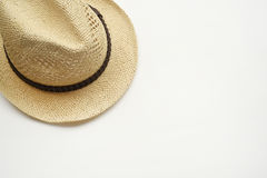 Summer straw hat Stock Images
