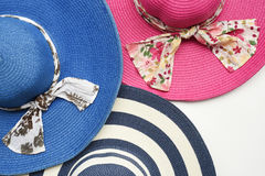 Summer straw hat Royalty Free Stock Images