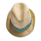 Summer straw hat Stock Photo