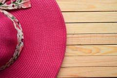 Summer straw hat Royalty Free Stock Photo
