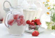 Summer strawberries Royalty Free Stock Images
