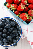 Summer Strawberries and Blueberries Royalty Free Stock Image