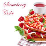 Summer strawberry cake Stock Photos