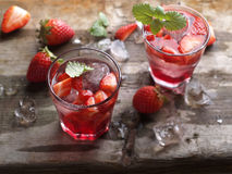 Summer strawberry drink Stock Photography