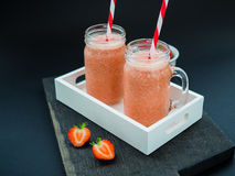 Summer Strawberry Ice Smoothie royalty free stock photography