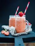Summer Strawberry Ice Smoothie Stock Image