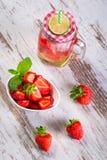 Summer strawberry lemonade Royalty Free Stock Photography