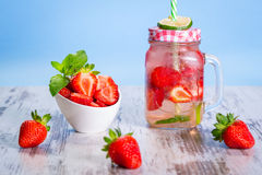 Summer strawberry lemonade Royalty Free Stock Image