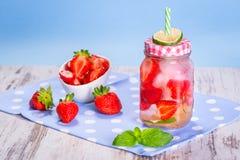 Summer strawberry lemonade Stock Image