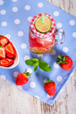 Summer strawberry lemonade Royalty Free Stock Images