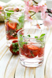 Summer strawberry lemonade with mint Royalty Free Stock Photos