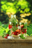 Summer strawberry lemonade with mint Royalty Free Stock Photo
