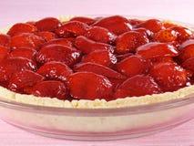 Summer Strawberry Pie Stock Photo
