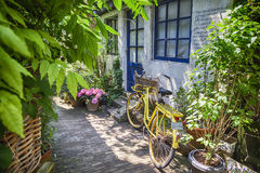 Summer street with bike Stock Photography