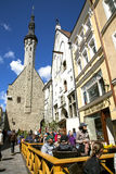 Summer street cafes in Old Tallinn Royalty Free Stock Photo