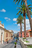 Summer street, La Orotava, Tenerife island, Spain Stock Images