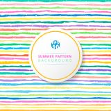 Summer striped pattern colorful on white background. stock illustration