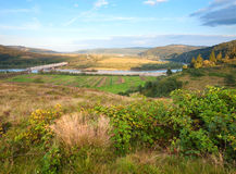 Summer Stryj River valley view. Stock Image